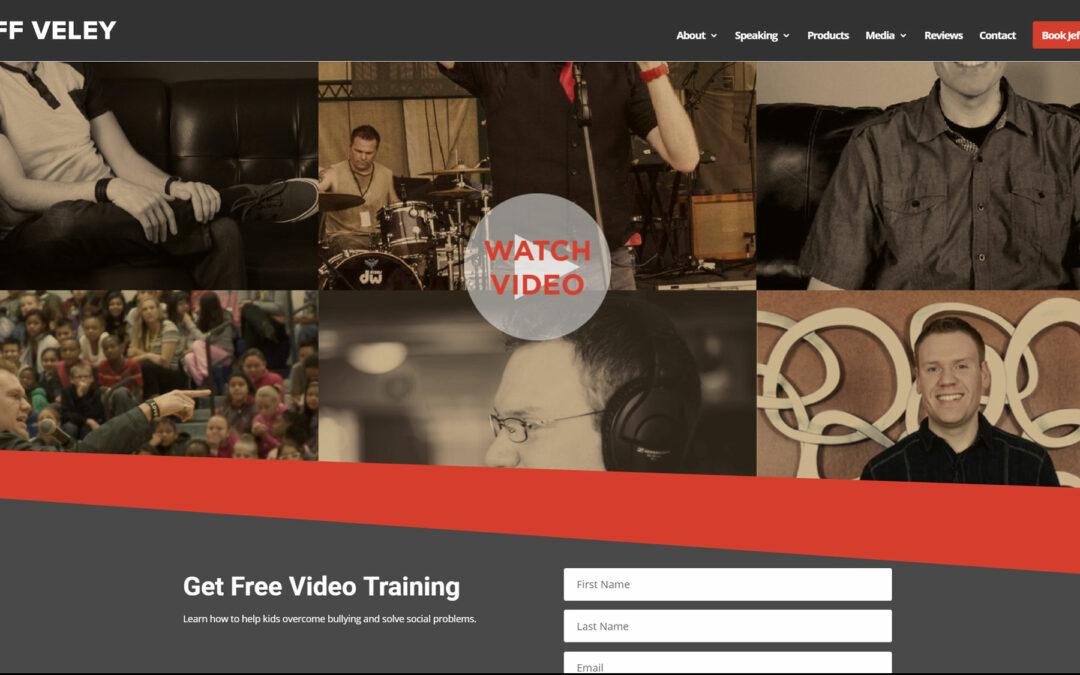 Jeff Veley Website Redesign