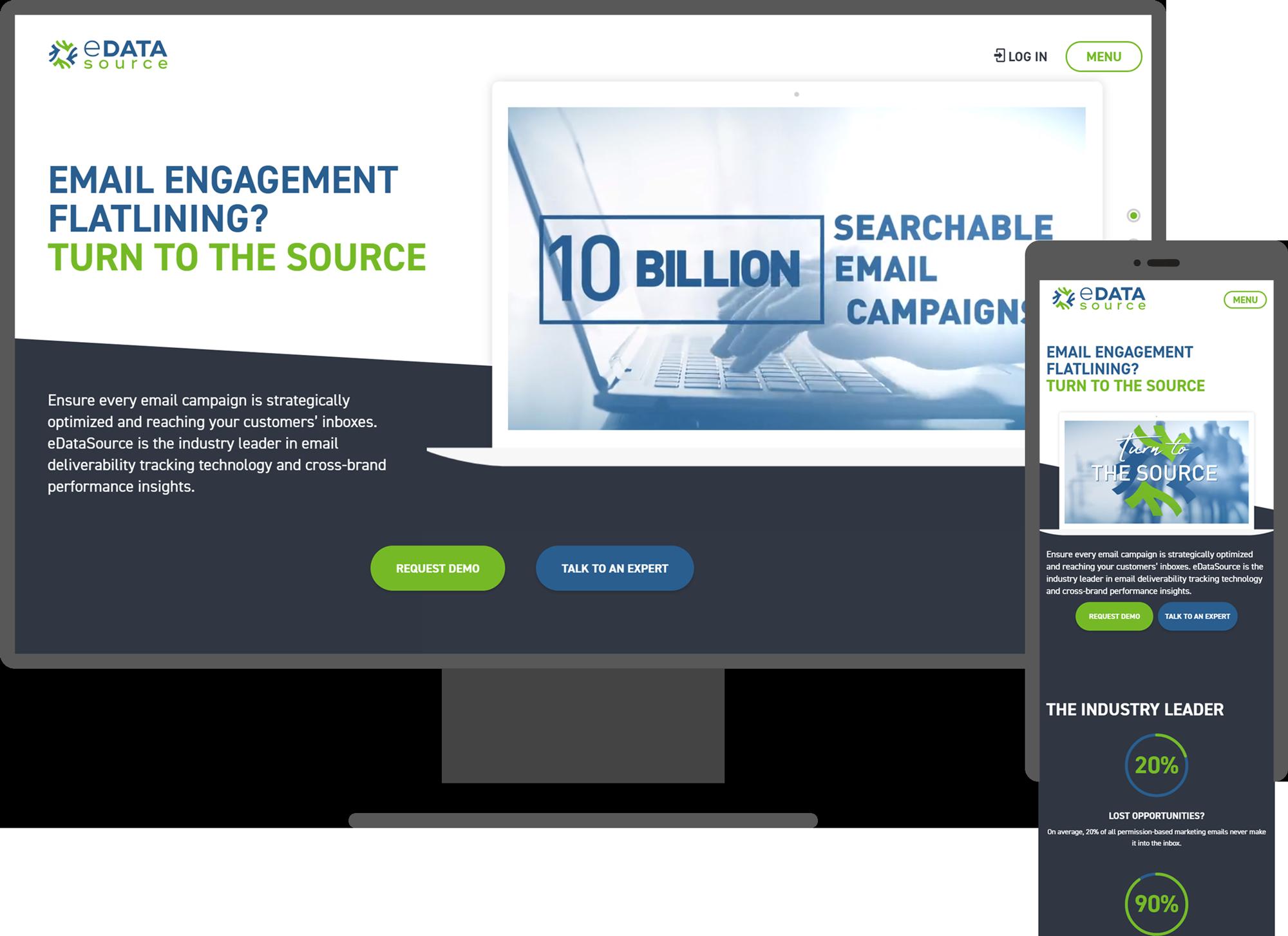 eDataSource Website Mockup
