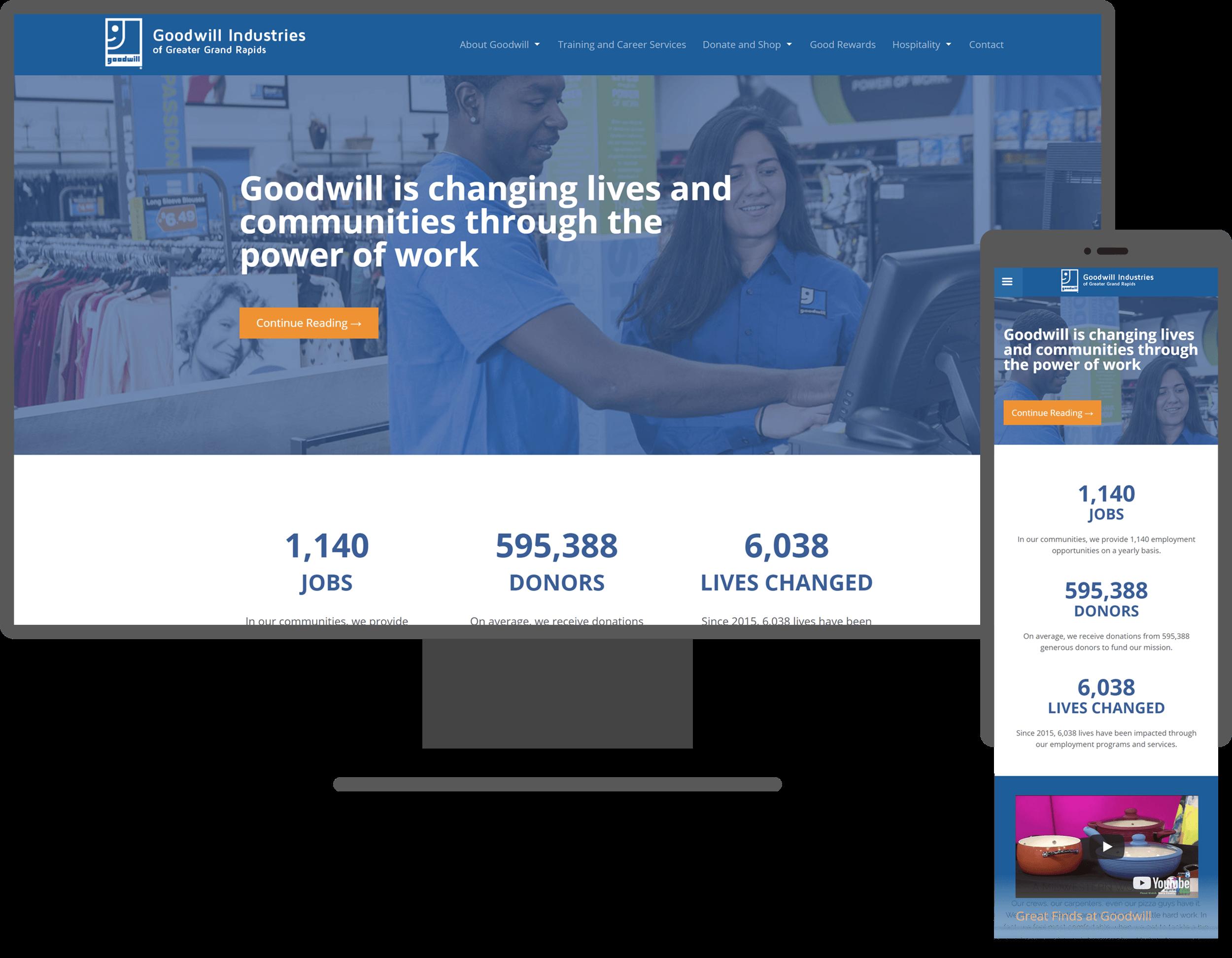 goodwill site design mockup