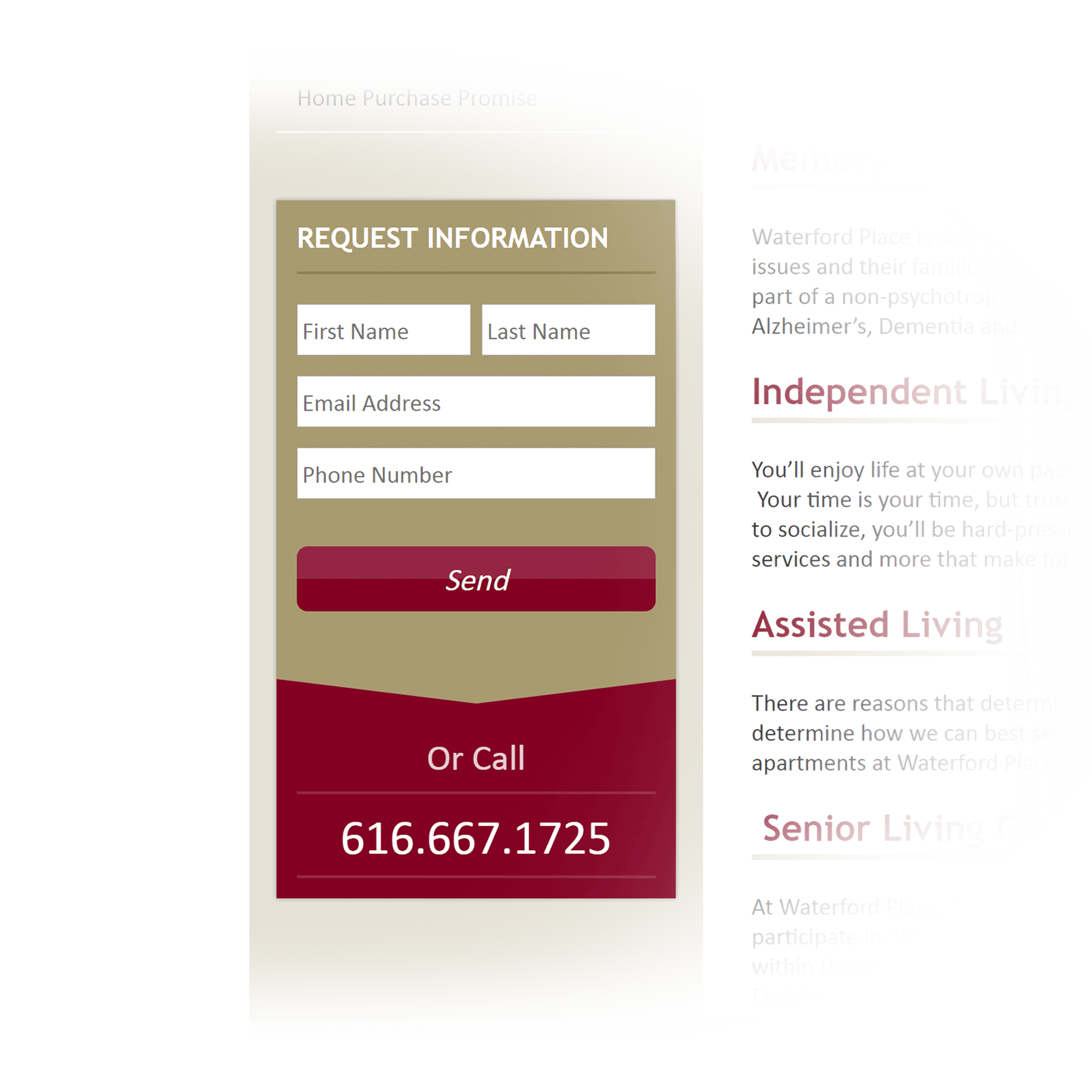 Request Information Form - Sunset Communities