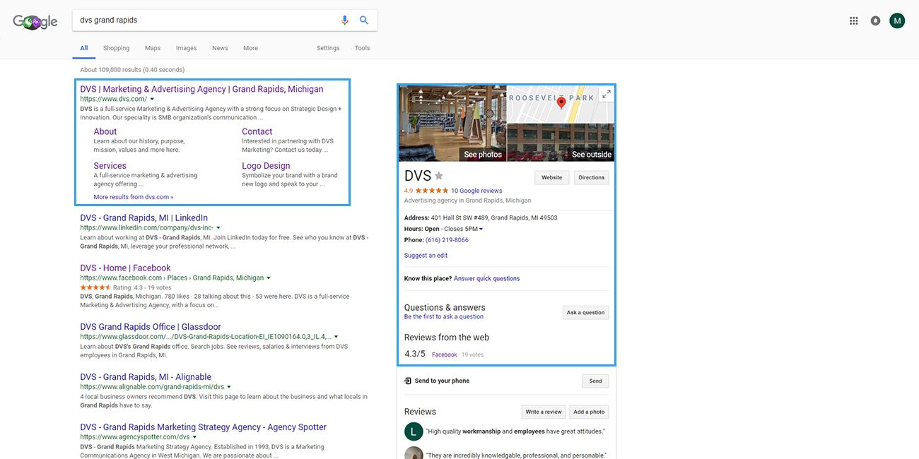 DVS Google Search Structured Data