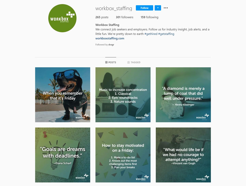 DVS Portfolio - Workbox Social Screenshot