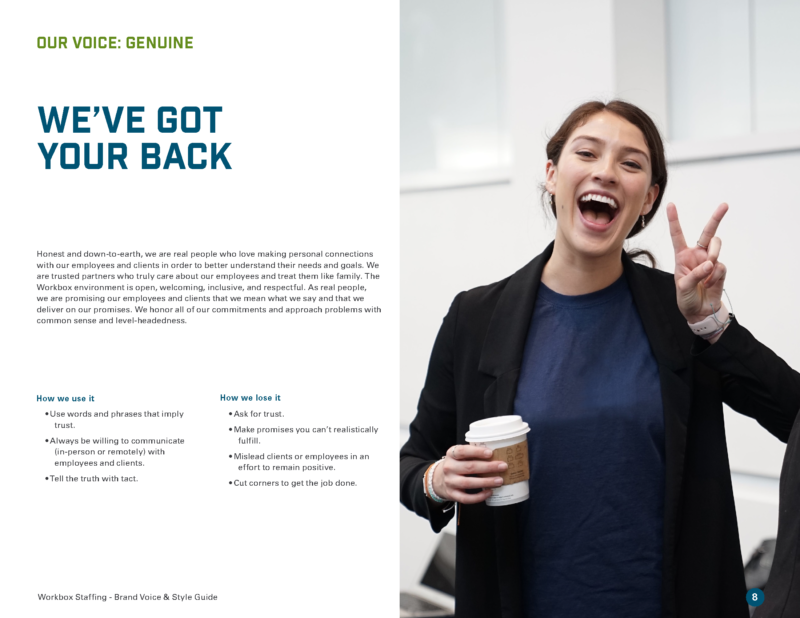 DVS Portfolio - Workbox Brand Guide Page 2
