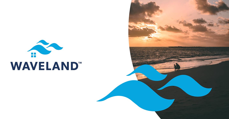 Waveland Property Management brand card.