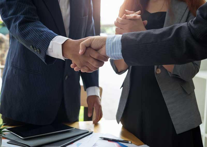 bad stock business handshake