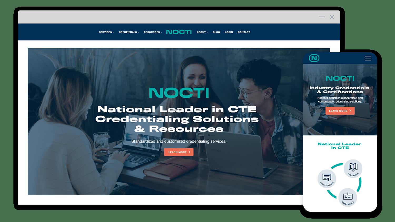 Nocti Website Mockup
